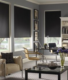 Roller shades are a modern window look - go as minimal, organic or upscale as you like. Starting at $89.