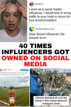 40 times influencers got owned on social media