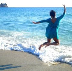 Jumping in the beach of Alanya, Turkey
