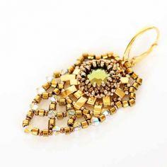 Juwelina - Ohrschmuck mit Swarovski Kristallen in Gold