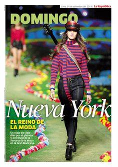 Portada Revista Domingo. Edición 14 de setiembre. #Magazine #layout #DiseñoEditorial #FashionWeek