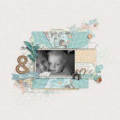 great use of #pattern paper in this #scrapbook page by Hillarey at DesignerDigitals.com #shopDesignerDigitals
