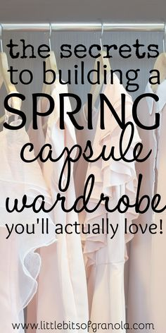 Such great tips! I'm excited to get my spring wardrobe together!