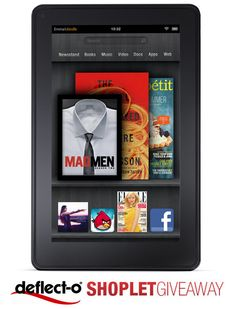 This week's giveaway is sponsored by Deflect-o! Tune into the Shoplet Blog for a chance to win a Kindle Fire! Brought to you by Shoplet.com - everything for your business. #giveaway