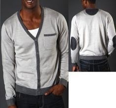 Sweet Men's Cardigans With Elbow Patches from XRay