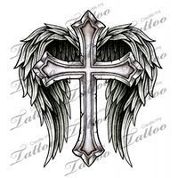 Market Tattoo Cross with Wings #14700 | CreateMyTattoo.com.... ** Learn more at the image link