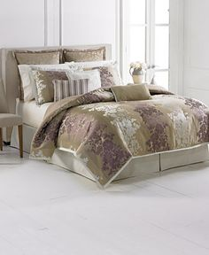 Martha Collection Villa Floret 9 Pc King Comforter Set Bed In A
