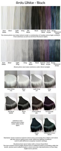 Nails grey black white hair colors ideas for 2019 Silver Grey Hair, Hair Color For Black Hair, Cool Hair Color, Black Wig, Black Silver, Hair Colors, Black Ash Hair, Raven Hair Color, Black White Hair
