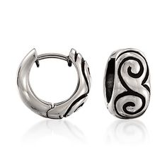 Zina Sterling Silver Half-Swirl Hoop Earrings