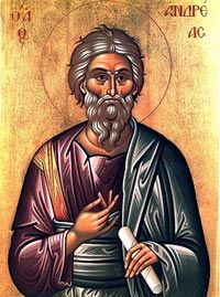 Saint Andrew first of all the apostles to follow Jesus.