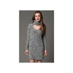 Gri Elbise K509 Cool & Sexy   Trendyol via Polyvore