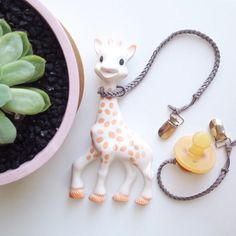 Toy Saver and Sophie The Giraffe harness by OurLittleHelpers
