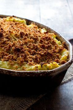 NYT Cooking: This casserole may upset some mashed potato purists, but take heart: one bite and they'll be won over. The genius of this recipe, besides its utter deliciousness, is… Best Thanksgiving Side Dishes, Thanksgiving Recipes, Holiday Recipes, Thanksgiving Dressing, Dinner Recipes, Holiday Meals, Holiday Desserts, Potato Dishes, Food Dishes