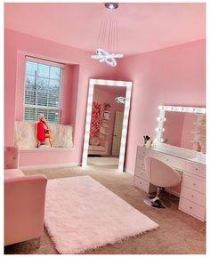 Room Design Bedroom, Room Ideas Bedroom, Home Room Design, Girls Bedroom, Bedroom Decor, 70s Bedroom, White Bedroom, House Design, Makeup Room Decor