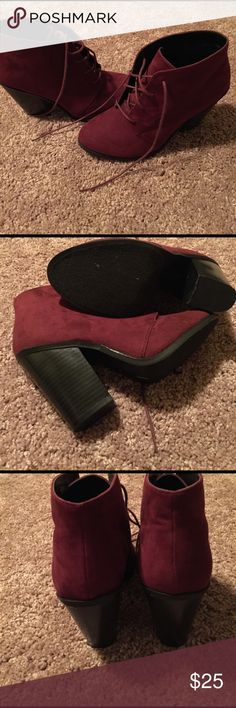 """New Call it Spring Maroon Heeled Booties size 8.5 New without Tag """"Call it Spring """" Maroon Heeled Booties size 8.5.. Great shoes to wear with any outfit ..very comfortable... Call It Spring Shoes Ankle Boots & Booties"""