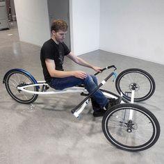Velo Design, Bicycle Design, E Quad, Three Wheel Bicycle, Solar Powered Cars, Tricycle Bike, Recumbent Bicycle, Reverse Trike, Drift Trike