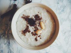 Finnish Christmas porridge with a vegan twist. #recipe in our blog Vegan, Dishes, Blog, Christmas, Recipes, Organic Beauty, Chocolate, Xmas, Tablewares