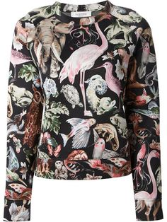 Shop Valentino animal motif sweatshirt in Cumini from the world's best independent boutiques at farfetch.com. Over 1000 designers from 60 boutiques in one website.