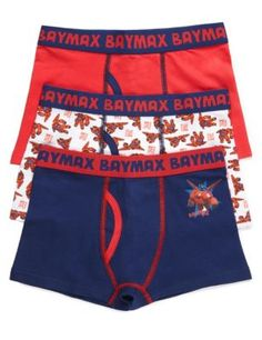 3 Pack Cotton Rich Big Hero 6 Trunks (3-12 Years) | M&S