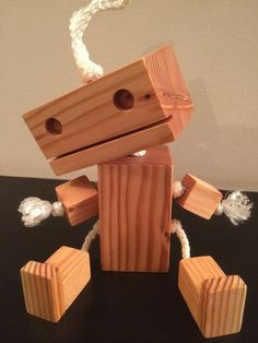 The Wooden Robot #woodworking #toy