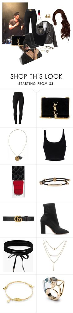 """""""Sin título #494"""" by denie11 ❤ liked on Polyvore featuring J Brand, Yves Saint Laurent, Calypso St. Barth, Roque, Gucci, Alexander McQueen, Gianvito Rossi, Amy Winehouse, Boohoo and harrystyles"""