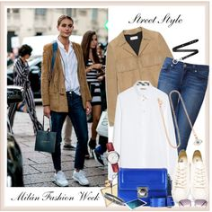 Street Style Milán Fashion Week Spring Summer 2015♥♥♥ by marthalux on Polyvore featuring Burberry, Yves Saint Laurent, Paige Denim, Neil Barrett, MARC BY MARC JACOBS, IaM by Ileana Makri, Hermès, Acne Studios, Oliver Peoples and StreetStyle