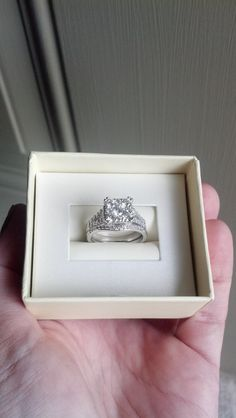 14k white gold diamond wedding ring set 115 by TheLeftHandedHooker, $2800.00