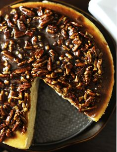 Cinnamon-Pecan-Cheesecake form Savory Sweet Life