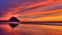 from LeodEscapes.com, a Morro Bay sunset.