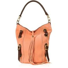 Ghibli Front Tassel Salmon Pink Suede and Leather Hobo Bag - Polyvore