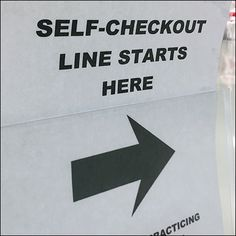 The Wait Queue Stanchion is the perfect Sign Stand for this CoronaVirus Self-Checkout Line Directional.