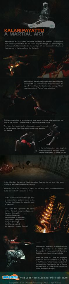 Kalaripayattu - a 2000 years old martial art used in the self defense. Considered to be the mother of all martial arts, invented in Kerala. The story of Onam - the festival of Kerala. http://mocomi.com/story-of-onam/