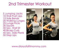 baby first trimester early pregnancy Second Trimester At-Home Workouts Prenatal Workout, Mommy Workout, Pregnancy Workout, Pregnancy Fitness, 2. Trimester, Second Trimester Workouts, Pregnancy Health, Pregnancy Tips, Pregnancy Belly