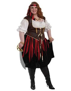 XXXL Pirate Lady (3X) - Click image twice for more info - See a larger selection womens  pirate costume at  http://costumeriver.com/product-category/womens-pirate-costume/ - womens, holiday costume , event costume , halloween costume, cosplay costume, classic costume, scary costume, pirate, classic costume, clothing