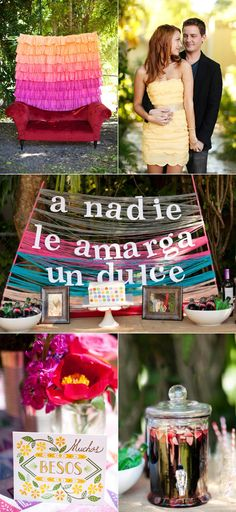 I'm totally head over heels for this Spanish inspired wedding shower photographed by Diana Lupu Photography. The colors, the textures, the games...and that dog! Everything is so absolutely adorable and perfect that I would have loved to have been there