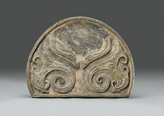 Large Roof Tile End   China   Qin dynasty (221–206 B.C.)   The Met