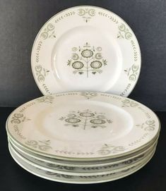 England Backstamp Apple  6 inch Bread and Butter plate Franciscan