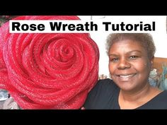 How to Make a Red Rose Deco Mesh Wreath – Step by Step Tutorial – Wreath Deco Mesh Bows, Deco Mesh Crafts, Deco Mesh Garland, Fall Deco Mesh, Deco Mesh Wreaths, Mesh Wreaths Summer, Deco Mesh Wreath Supplies, Flower Wreaths, Mesh Wreath Tutorial