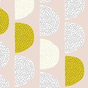 Scandinavian retro moon phases circles soft pastel moon gender neutral mustard by littlesmilemakers