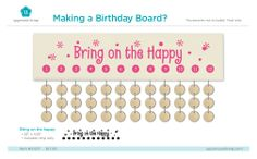 Sometimes it's hard to keep track of all your family and friends birthdays! But now with Uppercase Living you can create your very own birthday board! Check it out! #birthdays #craft #project #birthdayboard #uppercaseliving https://dianac.uppercaseliving.net/DesignItems.m?DesignId=6694&MenuLinkKey=products&CategoryId=366