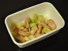 常備菜 : 鶏肉と白ネギの塩麹炒め