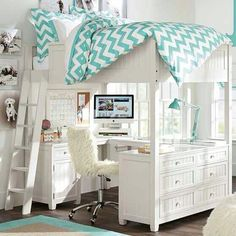 Teen girl bedrooms DIY room makeover help for a lovely and cozy diy teen girl bedrooms bedspreads Room Decor Suggestion posted on 20181119 Cute Bedroom Ideas, Girl Bedroom Designs, Awesome Bedrooms, Bed Designs, Loft Bed Room Ideas, Bedroom Simple, Girls Bedroom Ideas Teenagers, Loft Room, Bedroom Inspiration