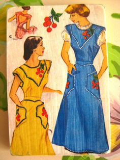 Wood Fridge Magnet Apron Pattern by sassysadielee on Etsy