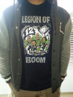 Legion of Boom.  Inspired by the hard hitting pro bowl secondary of the Seattle Seahawks / Hawks $19.99