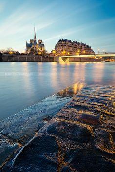 Paris, Notre Dame From Across The Seine Tour Eiffel, Great Places, Places To See, Amazing Places, Beautiful Streets, Beautiful Places, Paris Landmarks, South Of France, Paris France