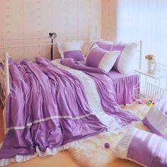 shabby chic bedding? Purple?
