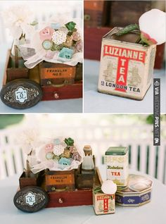 vintage wedding favors | VIA #WEDDINGPINS.NET