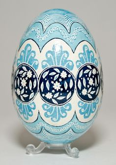 Pysanka Easter Blue Egg.