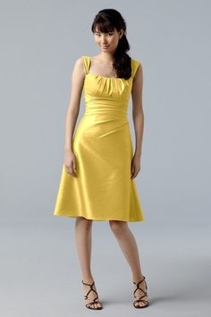 WTOO bridesmaids dress: Style 721, Citronella / for those who like straps
