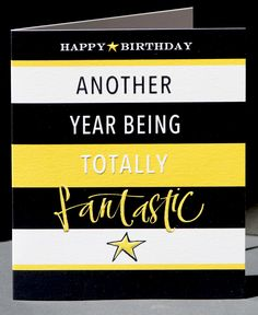Totally fantastic birthday card Kirsten Burke